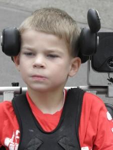 rolstoel besturen hoofdsteun